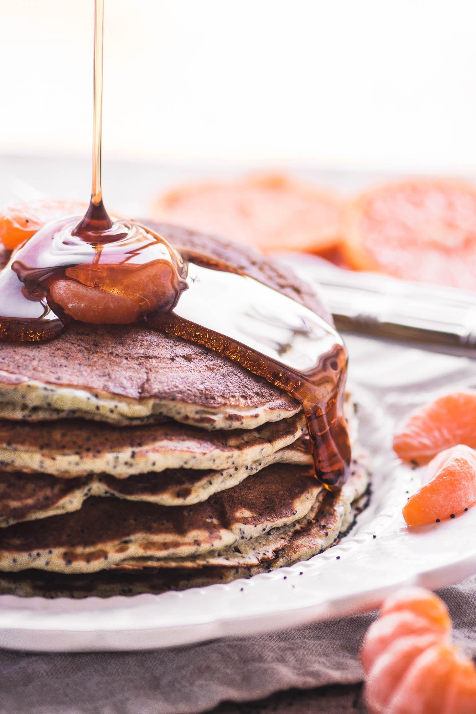Tangerine Poppy Seed Pancakes