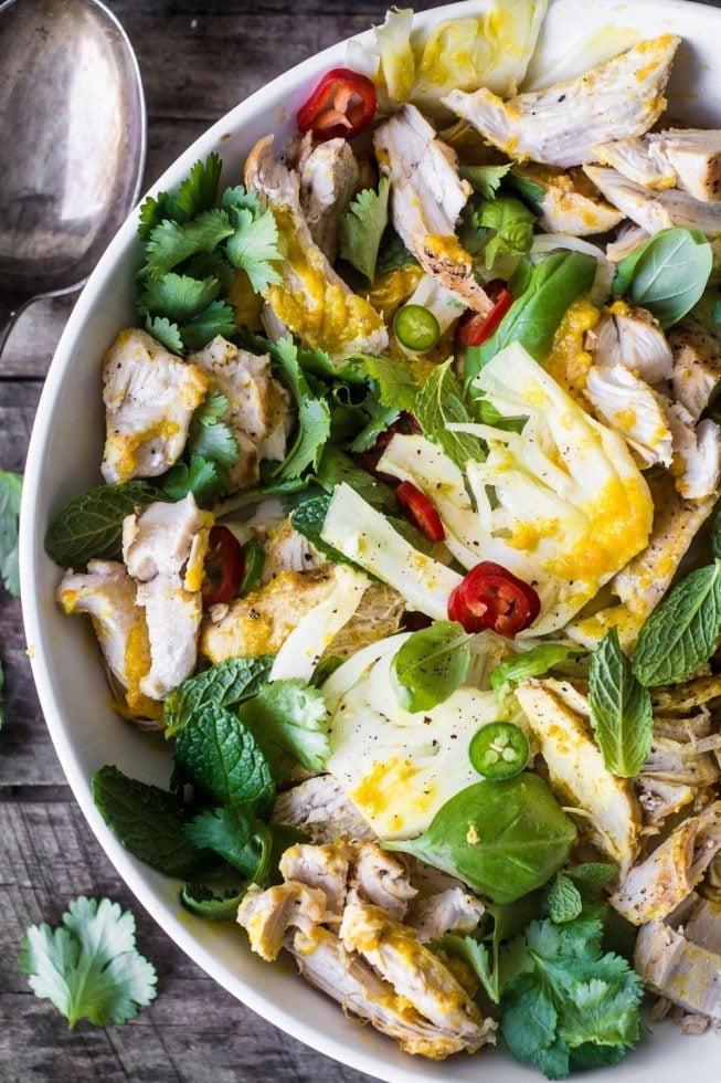 Saffron Chicken & Herb Salad
