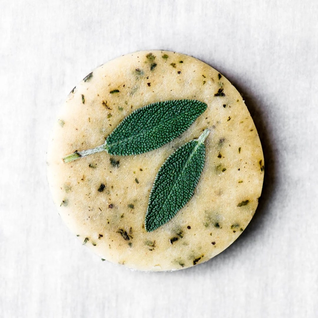 Savory Herb Shortbread ready to bake