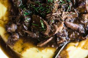 Instant Pot Short Ribs over polenta
