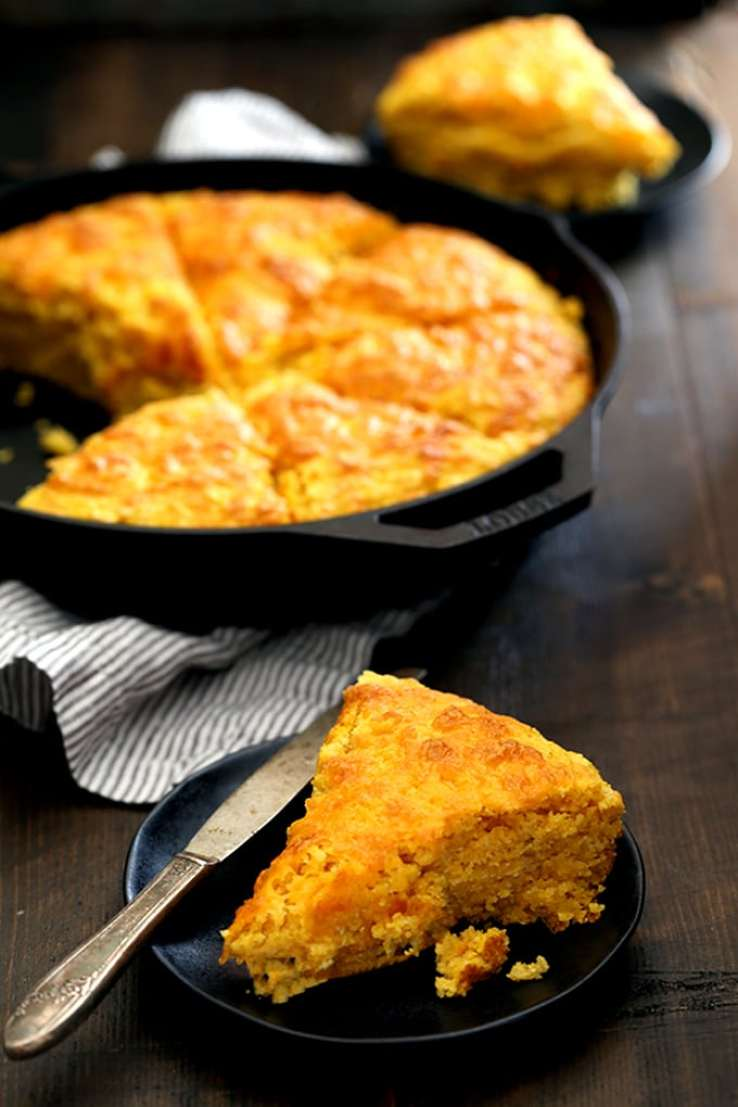 Best Cornbread Recipes ~ Pumpkin Cream Cheese Skillet Cornbread