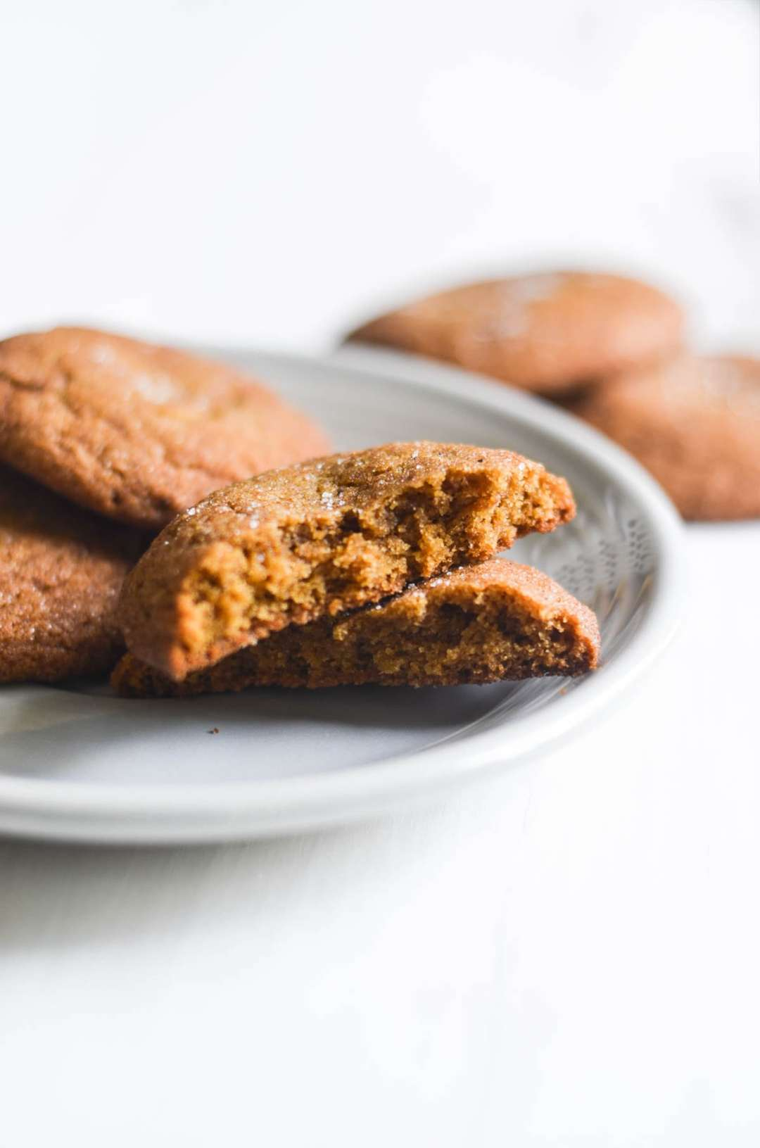 Gingerbread Snickerdoodles on a plate