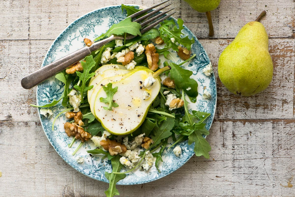 Pear Salad with Creamy Walnut Vinaigrette