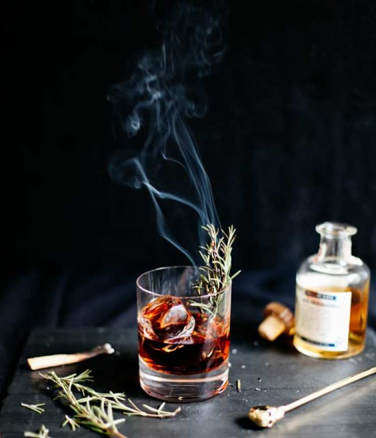 How to make smoked cocktails ~ Sleepy Hollow Cocktail