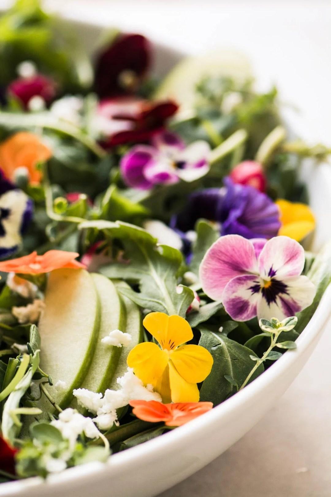 Winter Pansy Salad