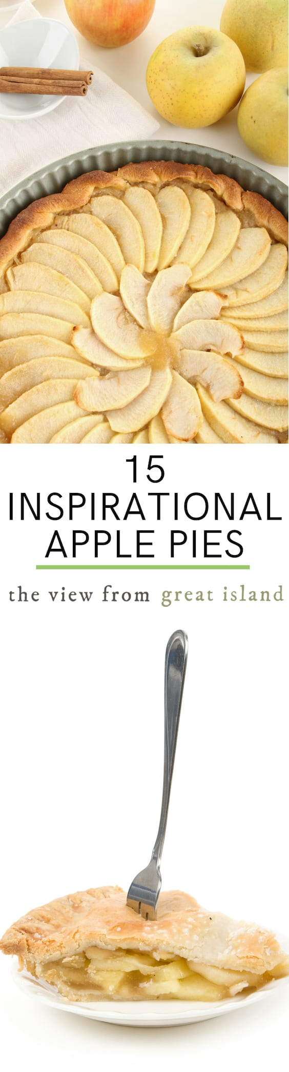 15 Inspirational Apple Pies for the fall and winter season ~ no holiday dessert table is complete without one of these glorious pies! #pie #dessert #thanksgiving #Christmas #pastry #homemade #recipe #lattice #doublecrust #crumble #apples