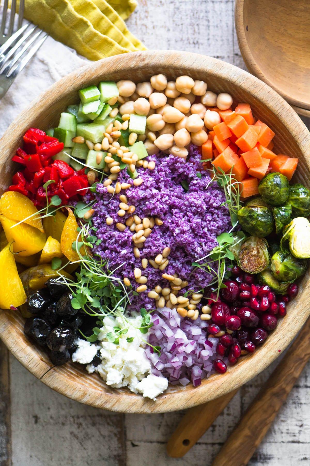 Purple Cauliflower Rice Salad