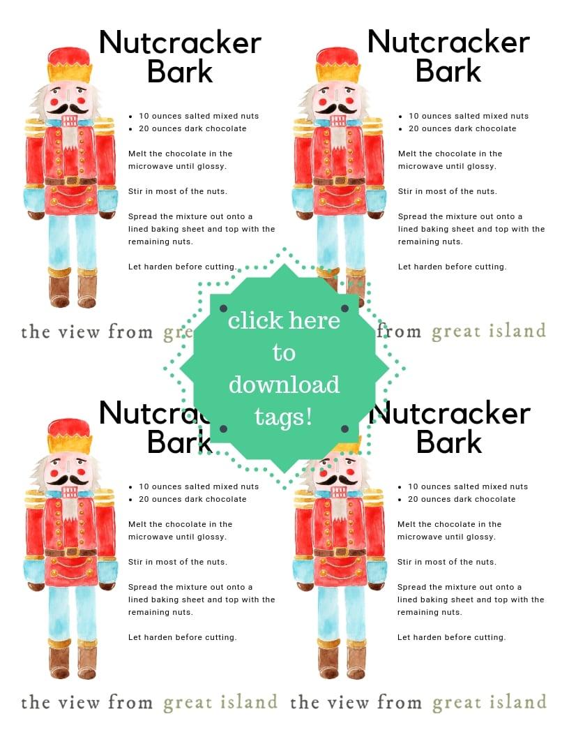 Nutcracker Bark tags