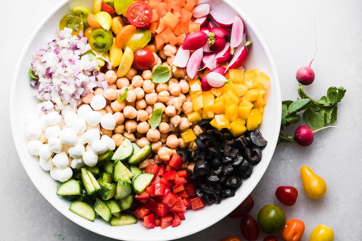 Chickpea Salad with Pesto