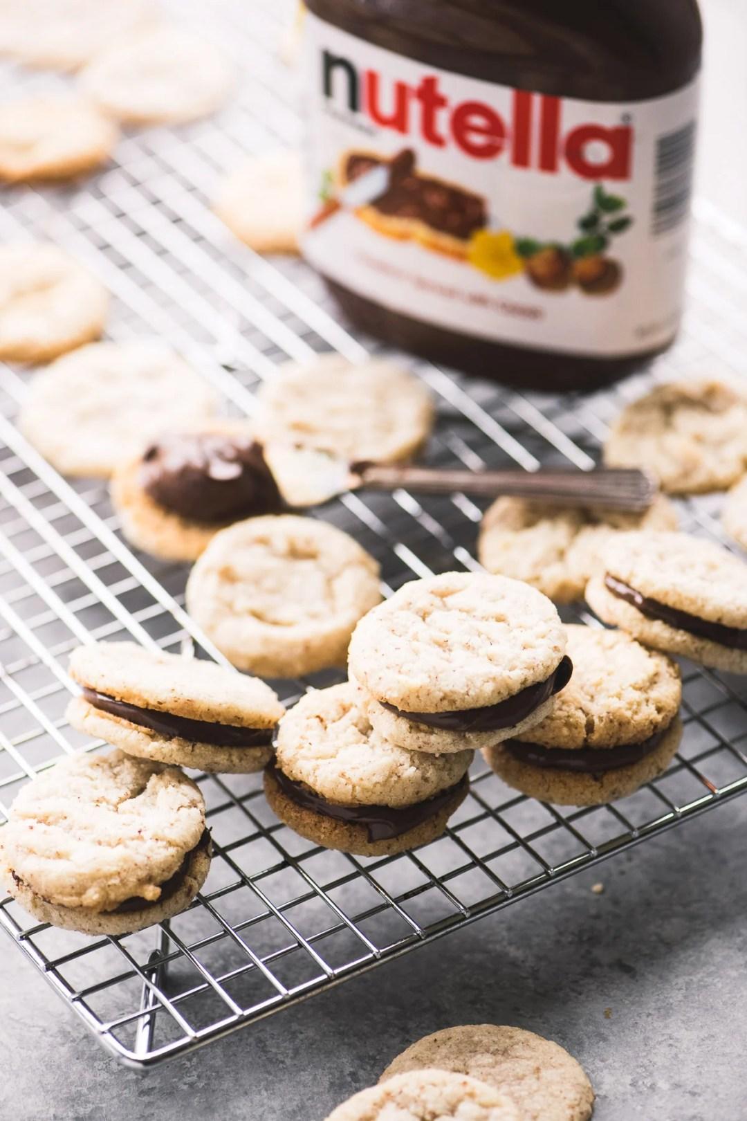 Making Nutella Sandwich Cookies