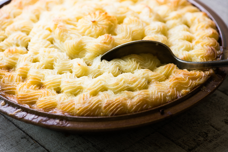 Cottage Pie with serving spoon