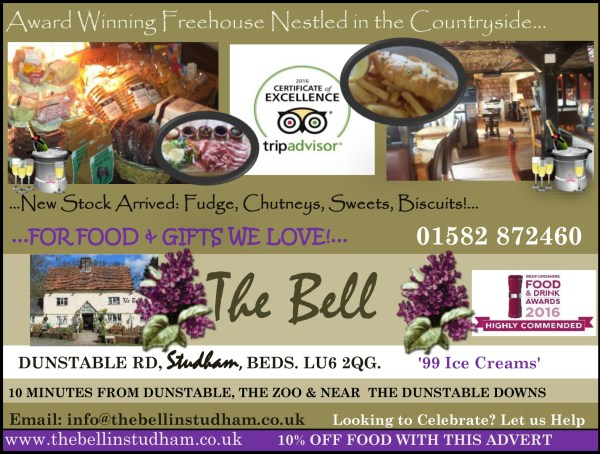 10% Off Food At The Bell In Studham