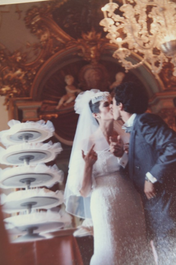 The CAKE.....Millie Folgia which means a thousand layers!Not to be forgotten THE KISS.