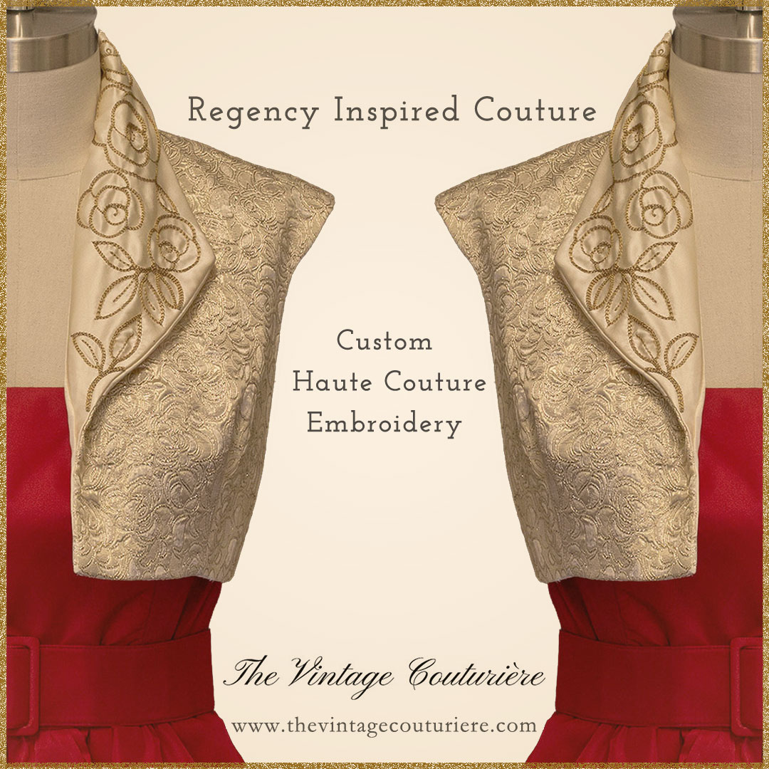 Regency Inspired Spencer with Haute Couture Embroidery - The Vintage Couturiere