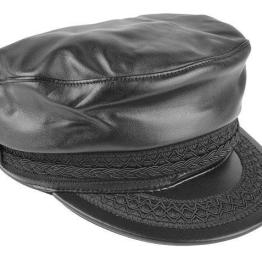Black EPOCH CAP GREEK LEATHER 2