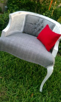 The Vintage Chair transformed into Vintage Modern Cottage Chair