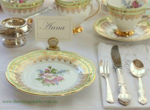 Setting The Table | Place Settings  The Vintage Table