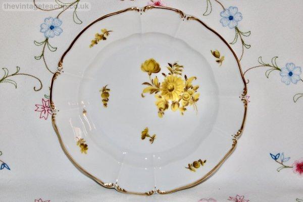 Nymphenburg Floral Trio mustard yellow