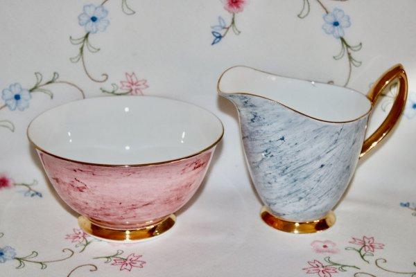 Royal Albert Pink & Grey Tea for Two