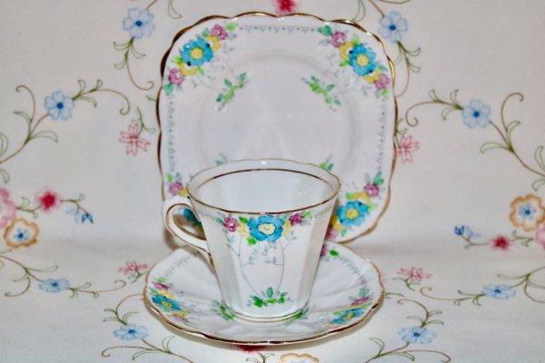 Tuscan China Trio Art Deco Tea set
