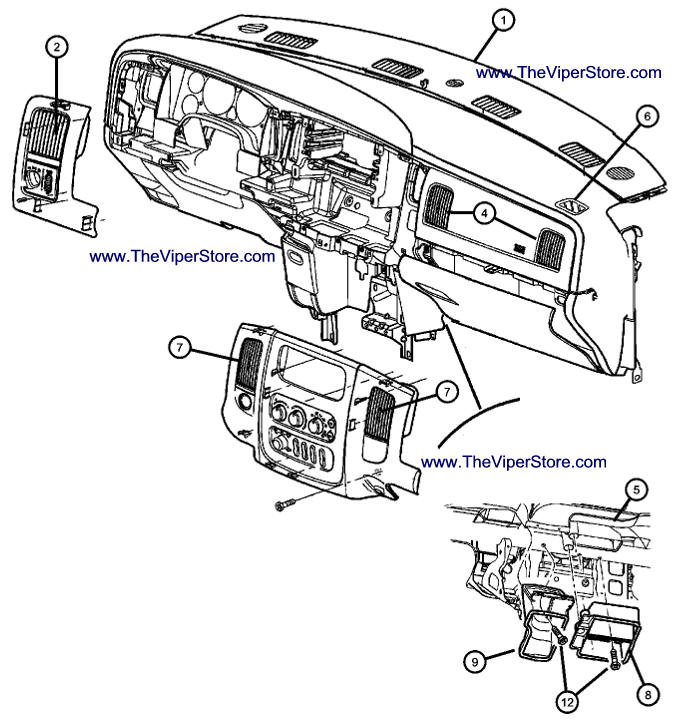 2004 Jeep Grand Cherokee Interior Parts Diagram