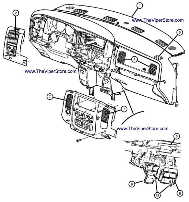 2004 Ford Explorer Interior Parts Diagram