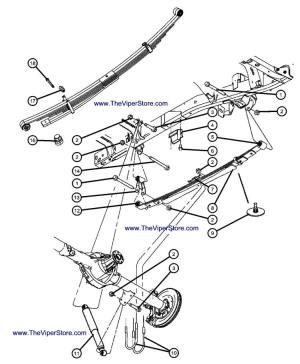 RAM SRT10 20042006 Factory Parts Diagrams Rear Suspension