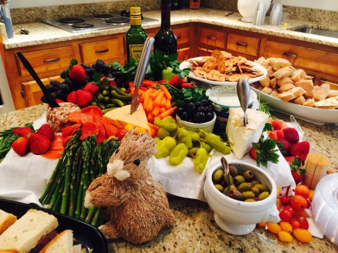 A picture of the spread from my last big Broker's Open event at Easter.