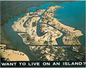 This postcard from 1959 was used by a Norfolk real estate company to sell lots in the new development of Bay Island.