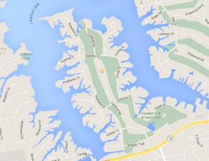 Map of Birdneck Point in Virginia Beach