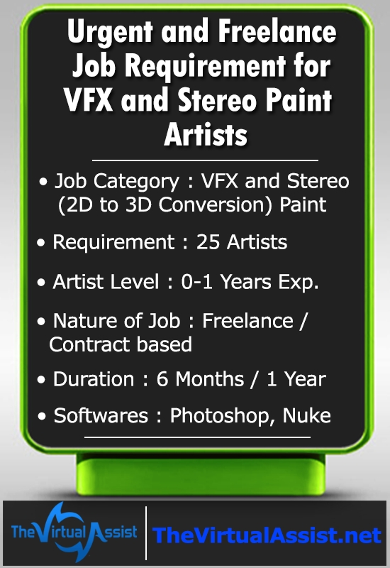 Urgent-job-vacancy-vfx-stereo-paint-artists-2d-3d-conversion