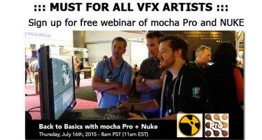 mocha pro and nuke webinar