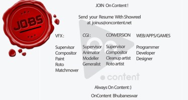 VFX, Animation, Stereo Conversion Jobs openings at On Content