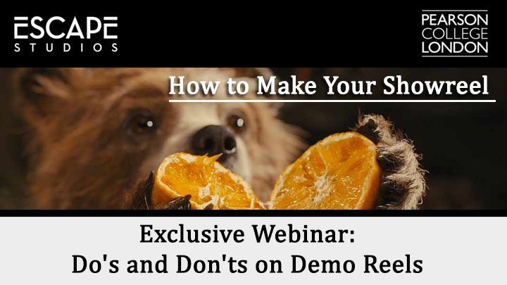How to make a showreel webinar