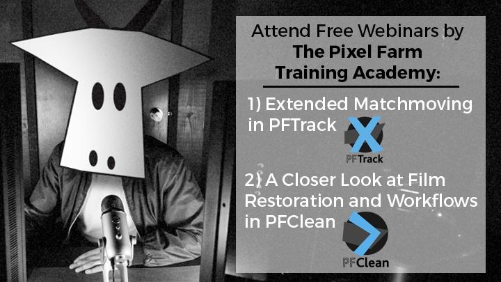 Pixel Farm Training Academy Webinars PFTrack PFClean