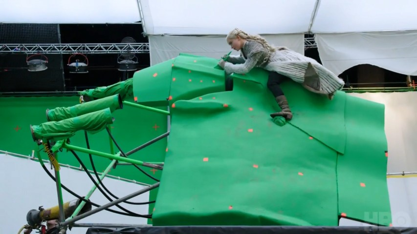 green screen shooting game of thrones