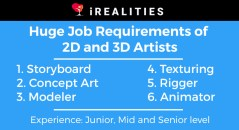 2d and 3d jobs opening irealities studio