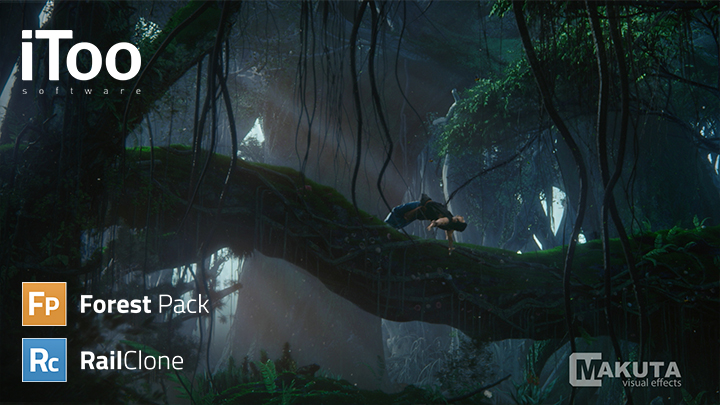 forest pack and railclone  plugins for 3ds max from itoo software
