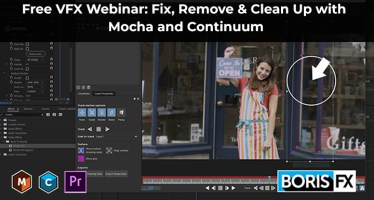 free vfx webinar clean up roto mocha