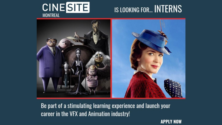 Cinesite internship program animation vfx artists