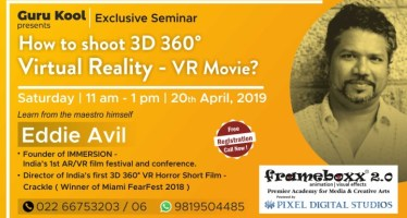 How to shoot 3D 360° VR movie seminar eddie