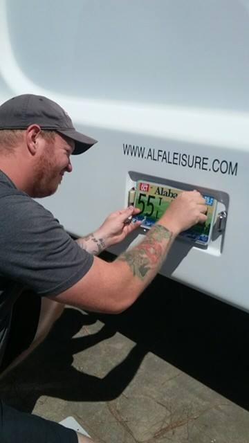 Putting the license plate on our rv story