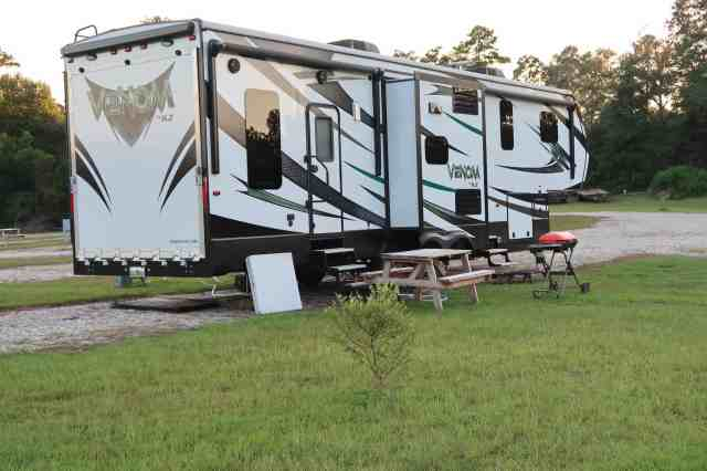 living in a toy hauler rv