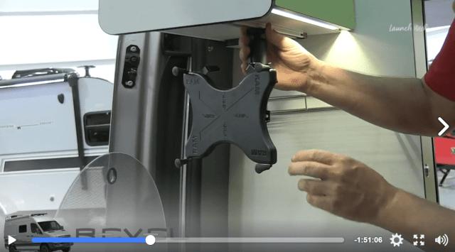 winnebago revel mount for tablet in kitchen