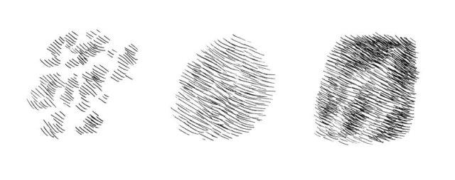 Hatching marks that resemble rabbit fur