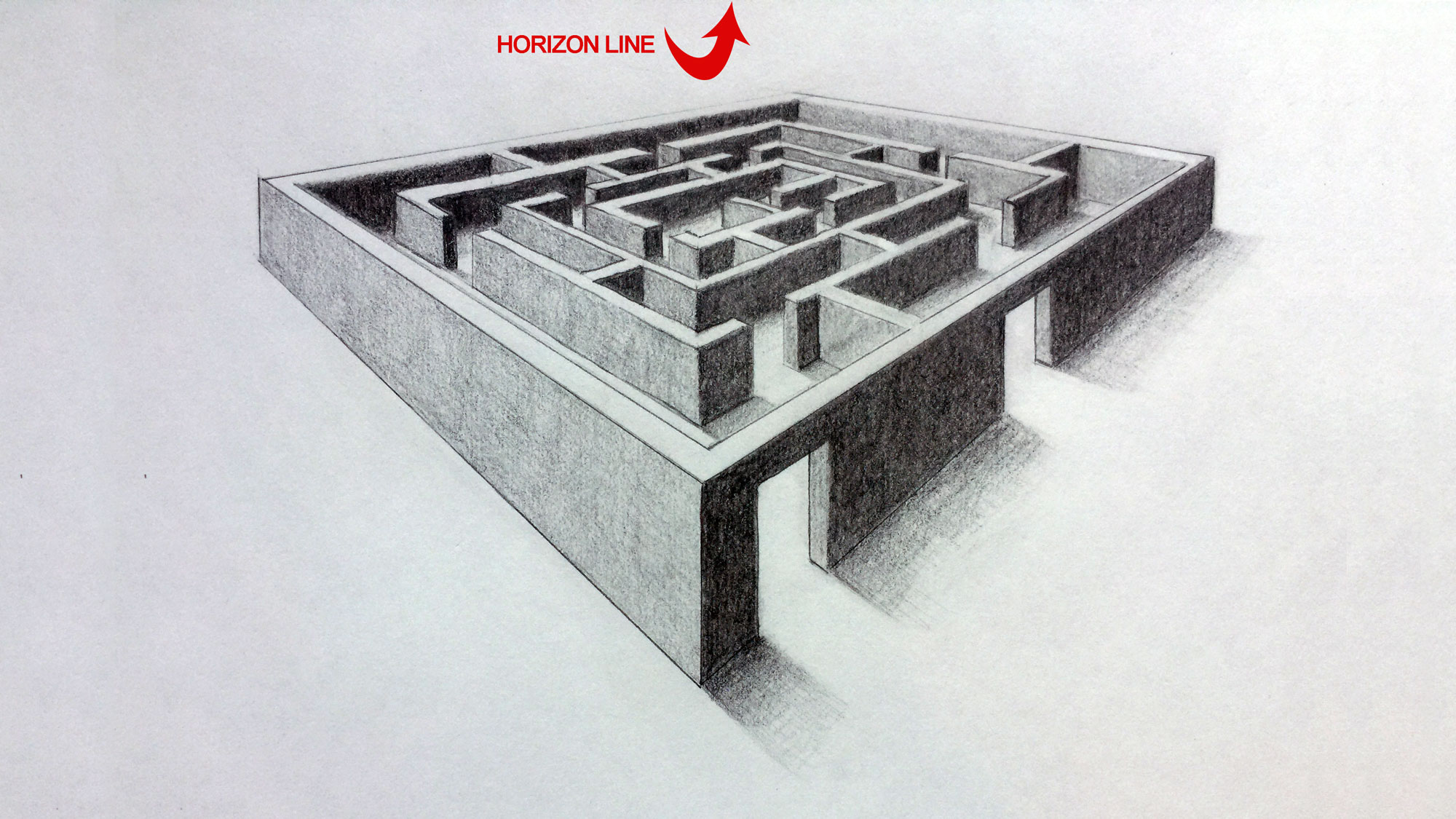 Two Point Perspective 3d Maze