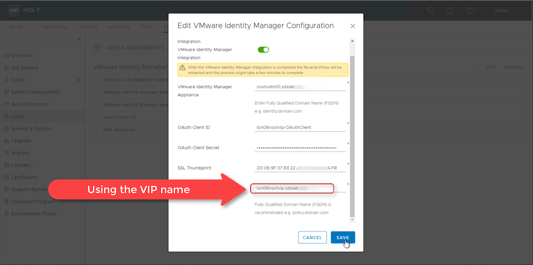 NSX-T 2 4 Active Directory integration using vIDM - The