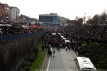Thousands of people gather to say farewell to Berkin.