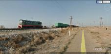 Cargo train outside Kharabali, Russia