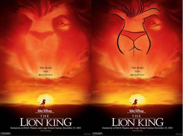 Image result for lion king subliminal images